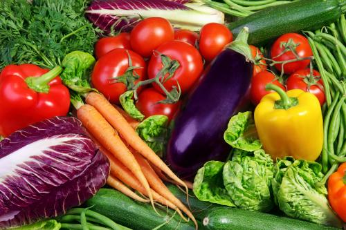 Diverse soorten groente en fruit
